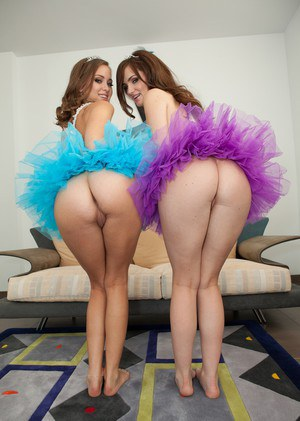 Sexy young princess Lily Carter kissing and petting her pretty lesbian friend