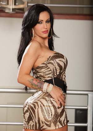 Dark haired female Jenna Presley gets banged hard and fast by her lover