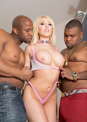 Kagney Linn Karter gets dp and sucks BBC in sexy interracial threesome