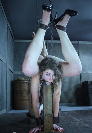 Sexy slave girls bound together for pussy lick in facesitting lezdom bondage
