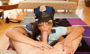 Very chesty cop Lisa Ann breaks out super huge boobs for titjob  anal sex