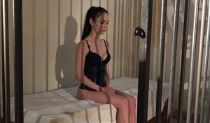 Gorgeous Russian slave Arwen Gold returns on subcpaceland!  Hot fantasies of harsh bdsm show us a silent slave locked in cage and kept in until the Master needs her. She can get out only for a harsh bondage treatment and because the Master needs to pump a