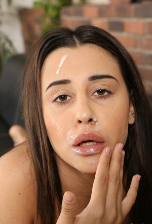 Brunette female Chanel Lux goes to pussy to mouth after getting banged