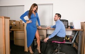 Office slut Nikki Capone tells her male co-worker that it's time to fuck