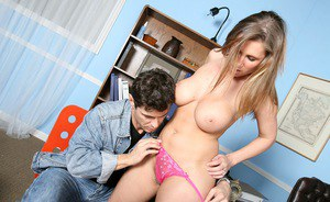 Hardcore photoset of Devon Lee training a young cock