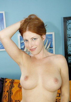 Cute Redhead Milf Ginger Blaze Striping Panties Spreading Naked In Boots