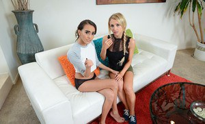 Pornstar Alix Lynx has her best friend help her out with a threesome fuck