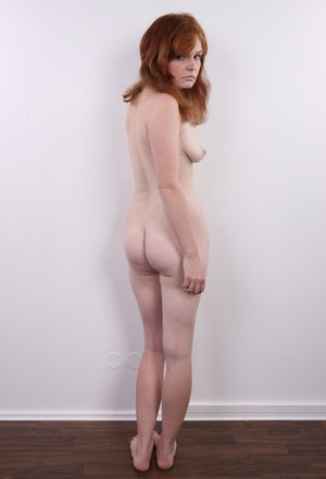 Broke redhead resorts to taking off her clothes to pay the rent