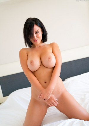 Gorgeous amateur Bryci bares her perfect big tits and sucks hard cock POV