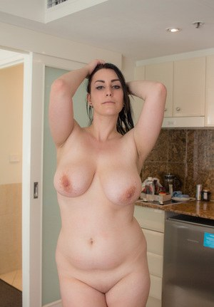 Thick sexy Chloe Jenks takes off her hot bra and panties to air her big tits