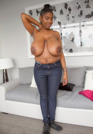 skinny black women with giant breasts