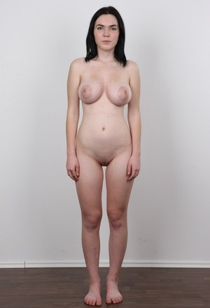 Amateur Petra has perky tits and huge nipples photographed for a casting call