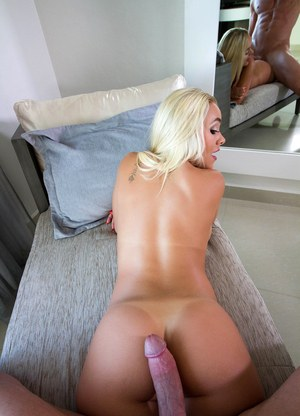 Hot blonde Alexis Monroe raises her firm ass for a wicked dripping cumshot