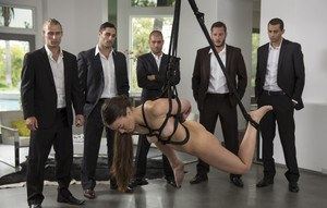 Excellent gangbang dp rough bdsm something