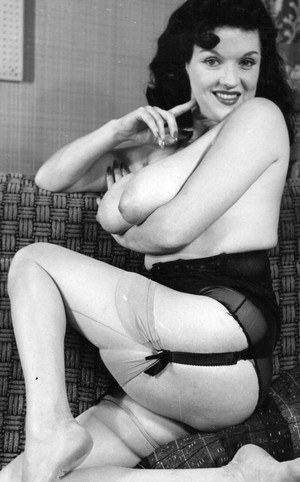 Super busty vintage women flaunting their saggy boobs for the camera