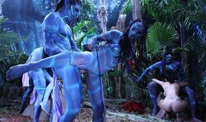 Misty Stone, Chanel Preston and Juelz Ventura in a wild alien orgy