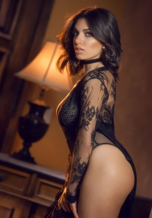 Beautiful solo model Darcie Dolce peels off her sexy lingerie