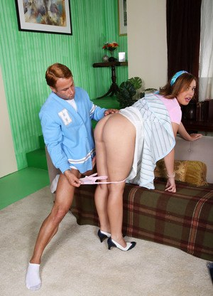 Brooke Lee Adams sits on it from behind from Richie Cunningham