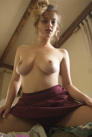 Busty Lottii Rose in pigtails flaunting naked big tits spreading hot ass