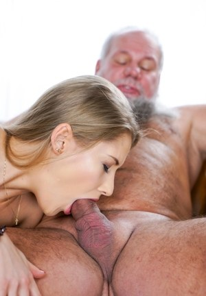 Young slut Tiffany Tatum works on her daddy issues with an old man's dick