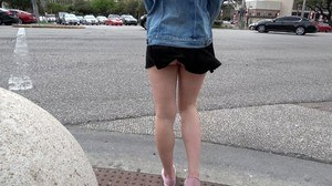 Naughty amateur Lila Frey performs anal oriented sex acts out in public