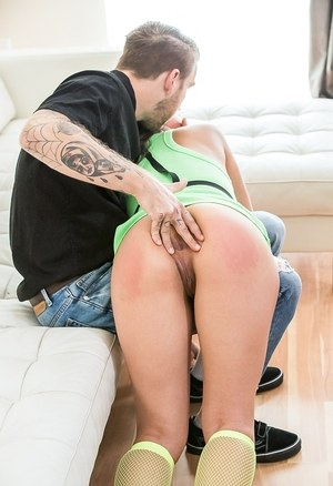 Latina chick Ella Knox is made to eat ass during rough sex games