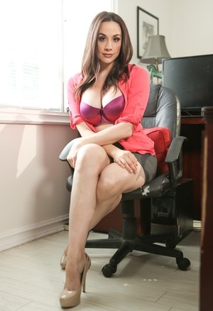 Female professor Chanel Preston strips naked in her office at end of the day
