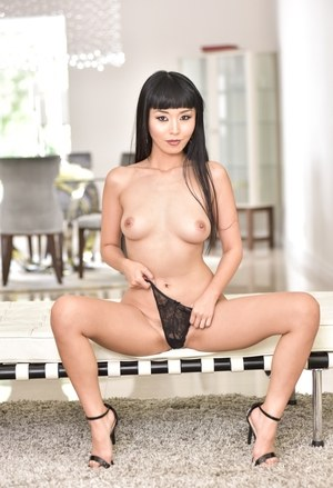 Incredibly sexy Asian MILF Marica Hase stripping down naked