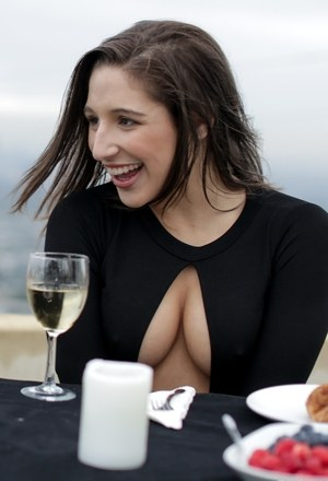 Incredible Abella Danger pops her exotic tits out of her tight black dress