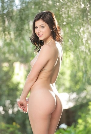 Hot brunettes Leah Gotti & Sophia Leone have fun stripping in public