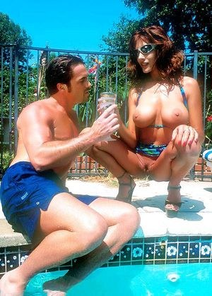 Legendary pornstar -Raylene gets fucked in and out of the swimming pool