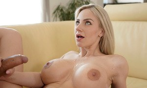 Big titted Nathaly Cherie enjoys nipple lick and doggystyle hardcore cock ride