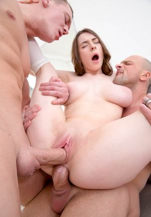 Slutty Clany gets analized and facialed in a DP threesome
