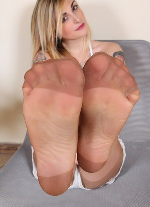 Sheer nylon feet free