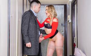 Attractive blonde Mia Malkova got boned while standing by her colleague