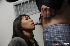 Japanese inmates forced to endure anal fingering and skull fucking by cop