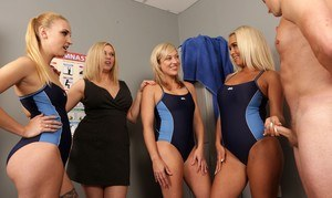 Stunning female swim team shows off its incredible oral skills