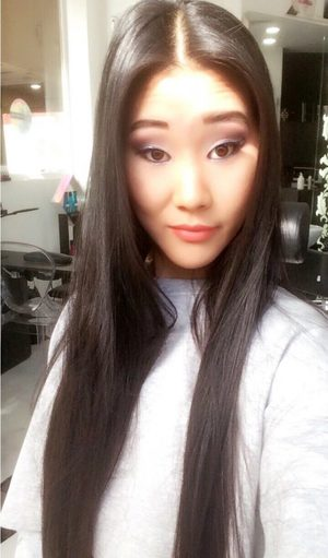 Hot Asian teen Katana takes a selfie to flaunt her pretty face & hot body