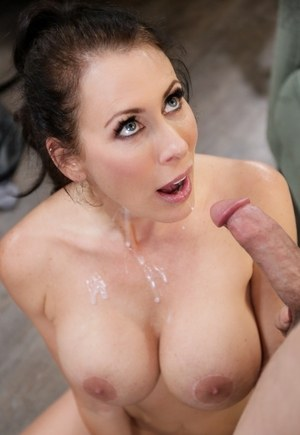 Big titted mature MILF Reagan Foxx seduces and fucks her son-in-law