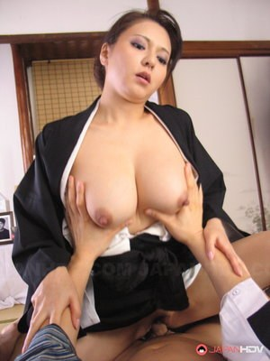 Japanese female Yuki Tsukamoto wears cum on her face after sexual intercourse