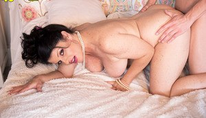 Over 40 lady Ivy Ices seduces a younger boy after being caught masturbating