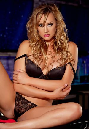 Stunning Babe Brett Rossi Sexy in Red Lingerie