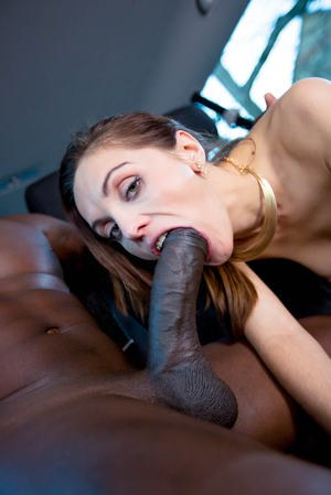 White chick Dominica Phoenix spits out cum after interracial ATM action