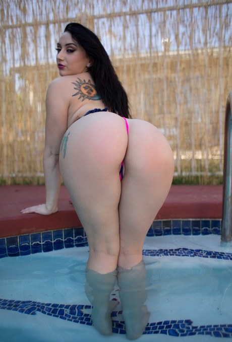 Latina Big Ass White Cock
